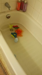 Biggest parental regret? Forgetting to drain the tub at night. It's the parent equivalent to a teenage hangover.